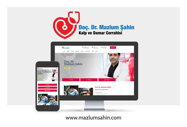Doç. Dr. Mazlum Şahin Web Site Tasarımı