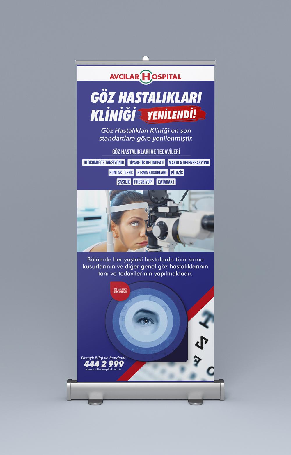 Göz Hastalıkları Roll-Up Tasarımı